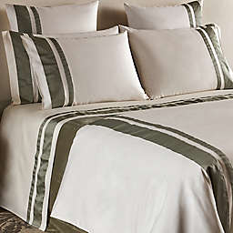 Frette At Home Brenta 280-Thread-Count Queen Sheet Set in Ivory/Sage