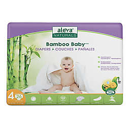 Aleva® Naturals Bamboo Baby™ 26-Count Size 4 Disposable Diapers