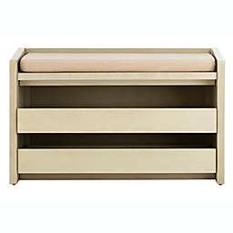 Safavieh Percy Storage Bench in White/Beige