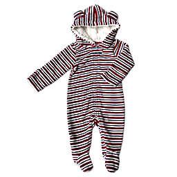 Modern Baby Sherpa-Lined Hooded Pram in Cream