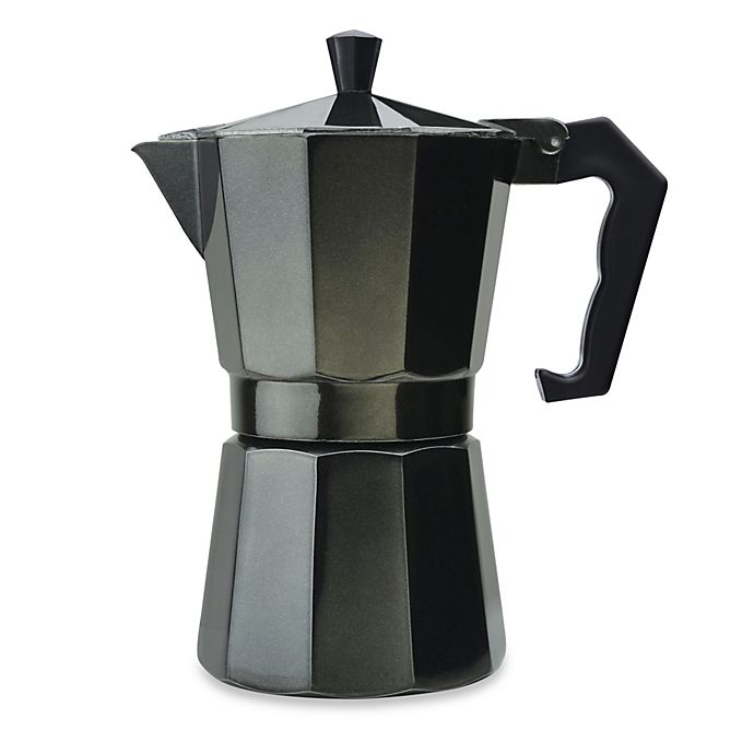 Alternate image 1 for Primula® Aluminum 6-Cup PEBK-3306 Stovetop Espresso Maker in Black