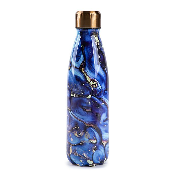 Alternate image 1 for Manna™ Vogue® 17 oz. Double Wall Stainless Steel Bottle in Smoky Blue Stone