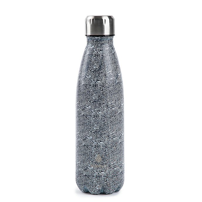 Alternate image 1 for Manna™ Vogue® 17 oz. Double Wall Stainless Steel Bottle in Grey Texture Print