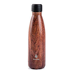 Manna™ Vogue® 17 oz. Double Wall Stainless Steel Bottle in Brown Wood