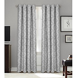 Bastille Geometric Grommet 100% Blackout Window Curtain Panel