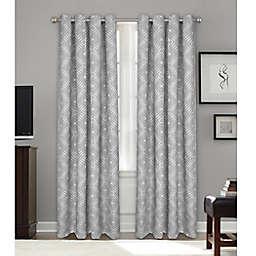 Bastille Geometric Grommet 100% Blackout Window Curtain Panel