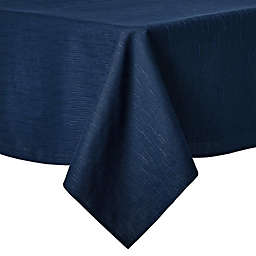 Artisanal Kitchen Supply® Stitches 60-Inch x 102-Inch Oblong Tablecloth in Navy
