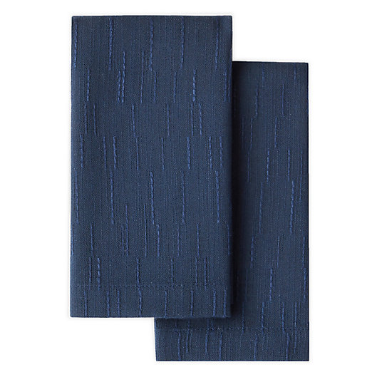 Alternate image 1 for Artisanal Kitchen Supply® Stitches Napkins in Navy (Set of 2)
