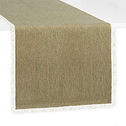 Artisanal Kitchen Supply® Rustic Fringe 90-Inch Table Runner in Leaf