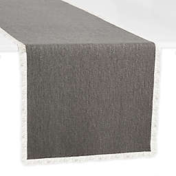 Artisanal Kitchen Supply® Rustic Fringe 90-Inch Table Runner in Grey
