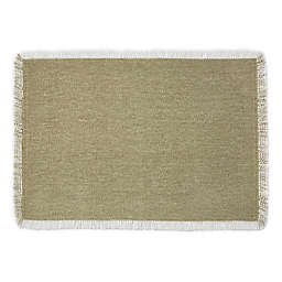 Artisanal Kitchen Supply® Rustic Fringe Placemat in Leaf