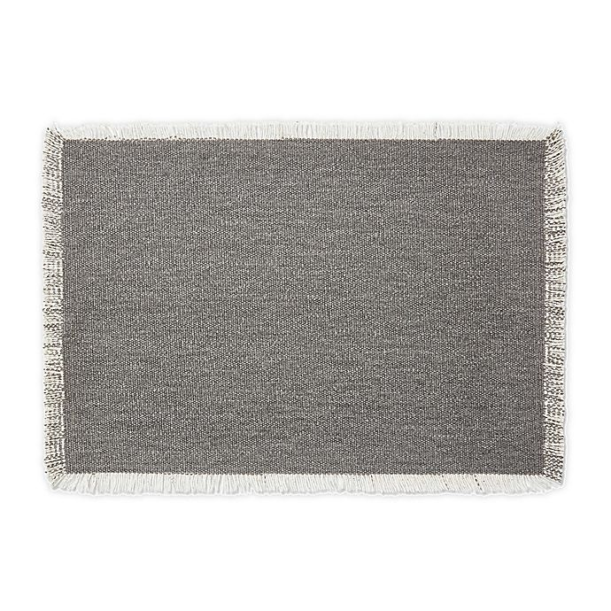 Alternate image 1 for Artisanal Kitchen Supply® Rustic Fringe Placemat in Grey