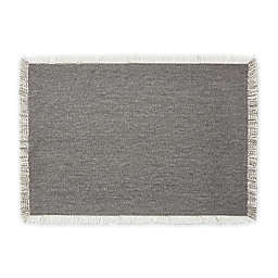 Artisanal Kitchen Supply® Rustic Fringe Placemat in Grey