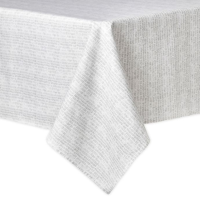 Alternate image 1 for Artisanal Kitchen Supply® Crossroads 60-Inch x 102-Inch Oblong Tablecloth in Grey