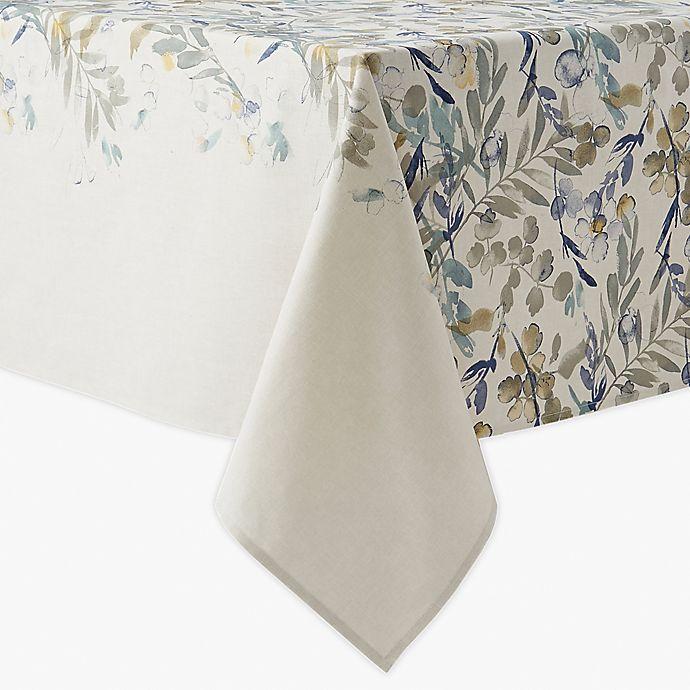 Alternate image 1 for Artisanal Kitchen Supply® Organic Leaves Oblong Tablecloth