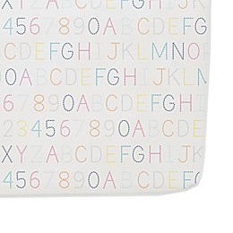 Pehr Alphabet Cotton Fitted Crib Sheet