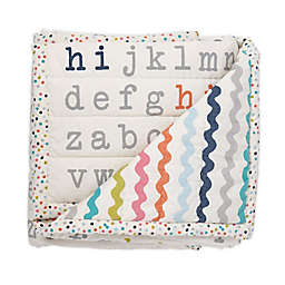 pehr Alphabet Cotton Quilted Blanket