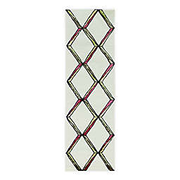 """Libby Langdon Upton Mod Scape 2'3"""" x 8' Runner in Cream/Gold"""