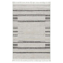 """KAS Willow Landscape 3'3"""" x 4'11"""" Accent Rug in Ivory/Grey"""