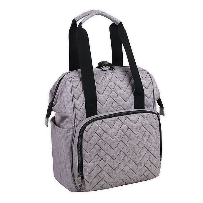 Alternate image 1 for Fisher-Price® Solids Diaper Backpack in Grey