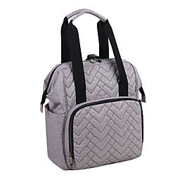 Fisher-Price® Solids Diaper Backpack in Grey