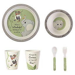 Precious Moments® Elephant and Monkey 5-Piece Toddler Mealtime Set