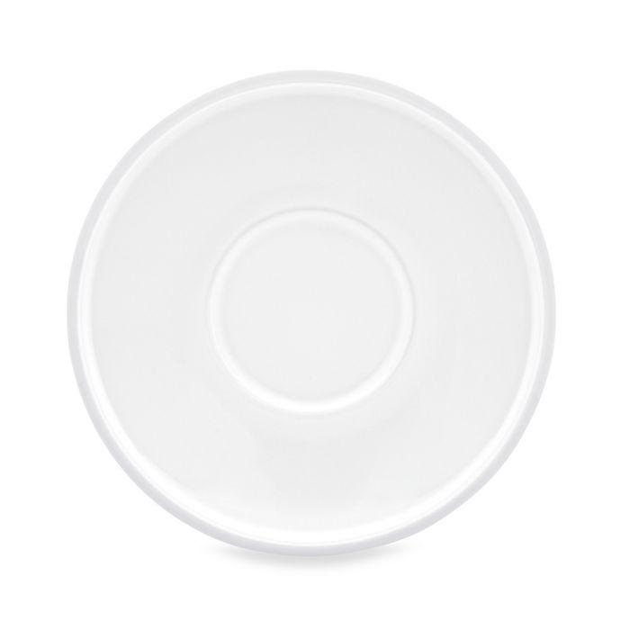 Alternate image 1 for Dansk® Kobenstyle 5.5-Inch Espresso Saucers in White (Set of 4)