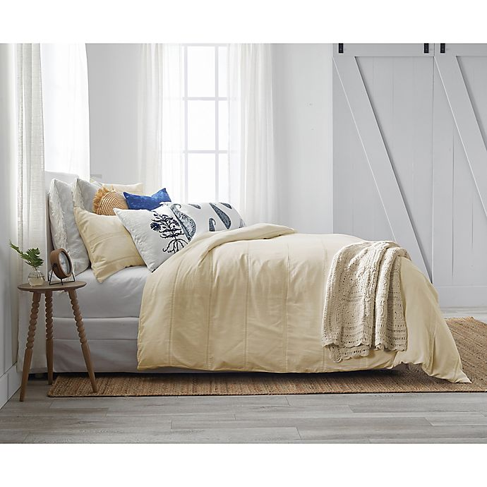 Alternate image 1 for Bee & Willow™ Home with Lauren Liess Lightweight Eyelet Lace King Comforter Set in Natural
