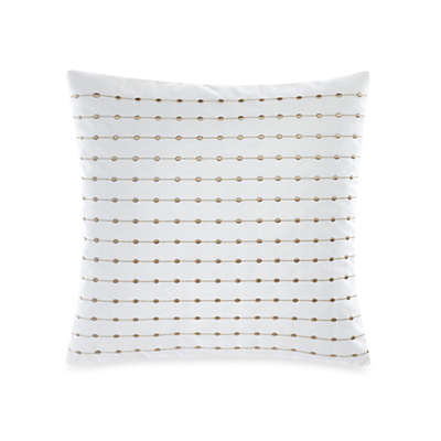 Barbara Barry Dream Pearls Square Throw Pillow in White