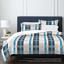 Springs Home Plaid 3-Piece Duvet Cover Set