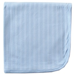 Touched by Nature Organic Cotton Swaddle Blanket in Blue