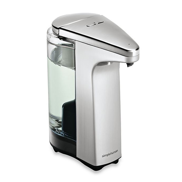 Alternate image 1 for simplehuman® Compact Sensor Pump Soap Dispenser with Sample Soap
