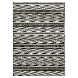 "KAS Terrace Horizon 6'7"" x 9'4"" Area Rug in Grey"