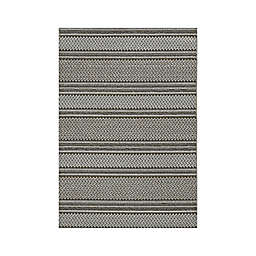 "KAS Terrace Horizon 5' x 7'6"" Area Rug in Grey"