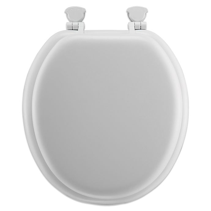 Alternate image 1 for Round Soft Toilet Seat with Durable Wood Core