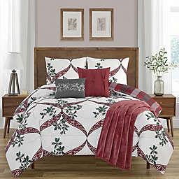 Rejoice 6-Piece Reversible King Comforter Set in Red