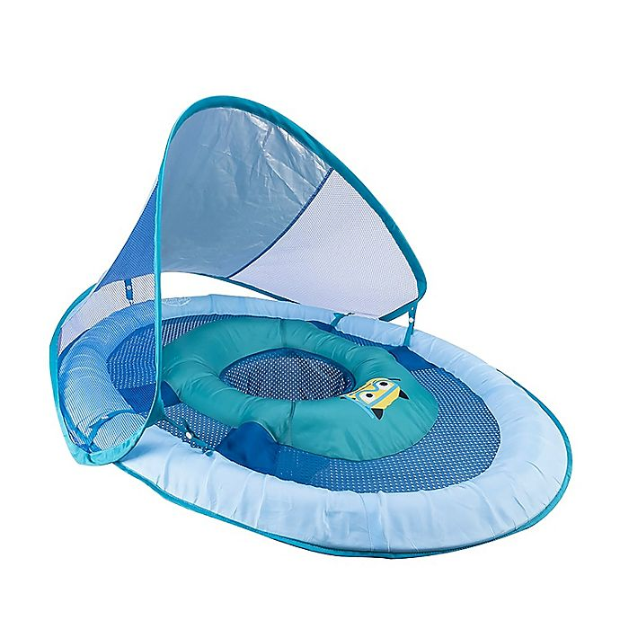 Alternate image 1 for SwimWays™ Baby Spring Float with Canopy UPF 50