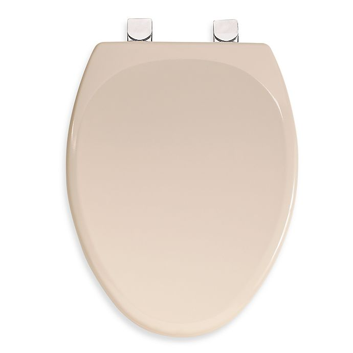 Magnificent Mayfair Molded Wood Elongated Toilet Seat With Durable Chrome Hinges In Bone Customarchery Wood Chair Design Ideas Customarcherynet
