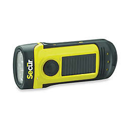 Secur Solar/Dynamo Battery Operated Powered Waterproof LED Flashlight