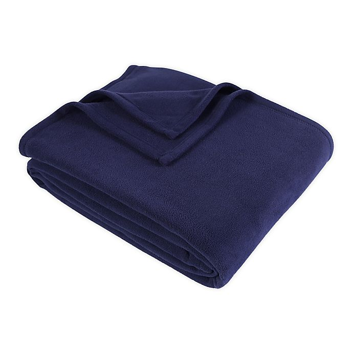 Alternate image 1 for Berkshire Blanket® Original Microfleece™ Full/Queen Blanket in Midnight