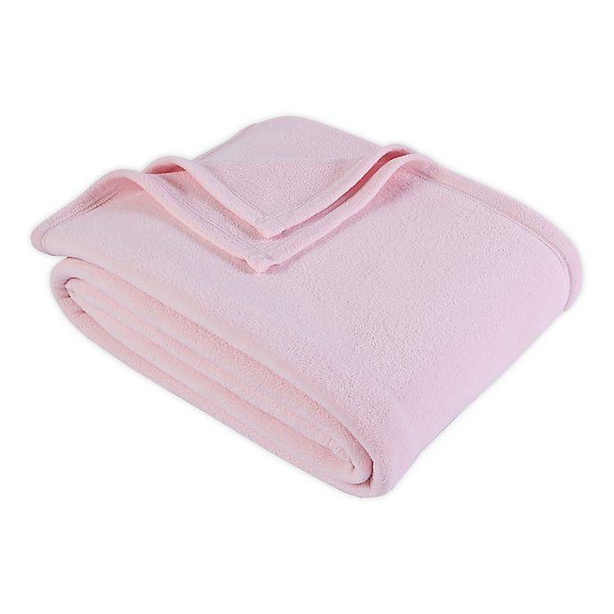 Alternate image 1 for Berkshire Blanket® Original Microfleece™ Full/Queen Blanket in Rose