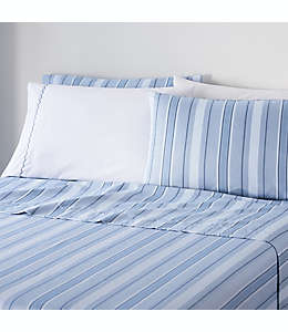 Set de sábanas king Waverly® de microfibra en azul mezclilla, 6 piezas