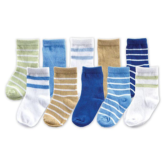 Alternate image 1 for Luvable Friends® Size 0-9M 10-Pack Sock Gift Set in Blue