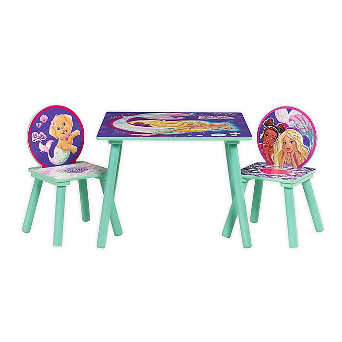 Alternate image 1 for Barbie™ Mermaid Table and Chairs Set
