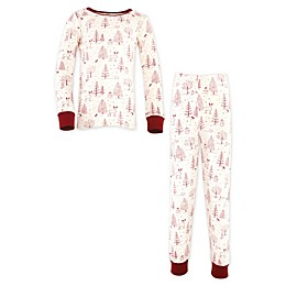 Touched by Nature® 2-Piece Woodland Organic Cotton Pajama Set in Red