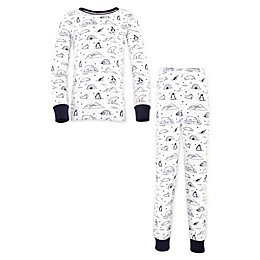 Touched by Nature® 2-Piece Arctic Organic Cotton Pajama Set in Blue