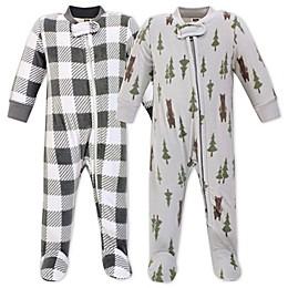 Hudson Bay Forest Bear 2-Pack Fleece Sleep 'N Play Fleece Pajamas