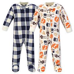 Hudson Bay Forest 2-Pack Fleece Sleep 'N Play Fleece Pajamas