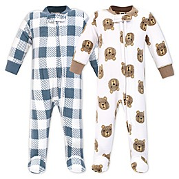 Hudson Bay Little Bear 2-Pack Fleece Sleep 'N Play Fleece Pajamas
