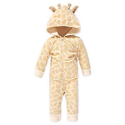Hudson Baby® Giraffe Fleece Hooded Jumpsuit in Brown